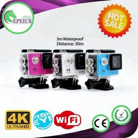 China H9 Waterproof 4k Sports Action Camera With 12mp Wifi Control Via Ios / Android supplier