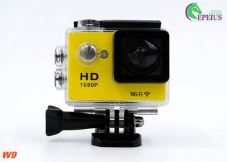 China Ultra 1080P HD Gopro Action Camcorder, W9 Wireless Video Camera For Sports Recording supplier