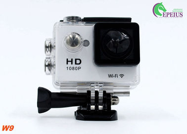 China Wireless 1080p 60fps Action Camera , W9 170D Lens Recorder Waterproof Hd Video Camera  supplier