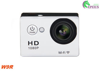 China Diving 170° Lens Wide Angle Action Camera , Ultra HD WiFi Motorcycle Helmet Camera supplier
