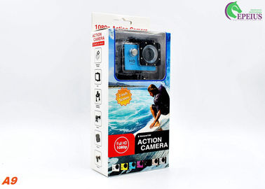 China 900mAh Battery 1080P HD Action Camera Underwater 30M H.264 HDMI A9 140° Wide Angle Lens supplier