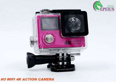 China Dual Screen Ultra 4K Wifi Action Camera H3 2.4G Remote Wireless Helmet Camcorder supplier