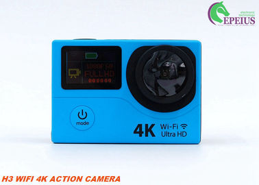 China Dual Screen Wifi Cam Full Hd 1080p , 32GB Wireless Action Camera With Longest Battery Life  supplier