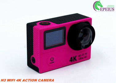 China Dual Screen H3 Motorcycle Video Camera , Gopro Wifi Action Camera SPCA6350 OV4689 Sensor supplier
