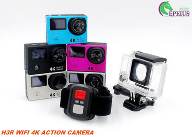 "China 4K Ultra HD H3R Waterproof Action Camera With 2.0"" Dual Screen Remote 10M supplier"