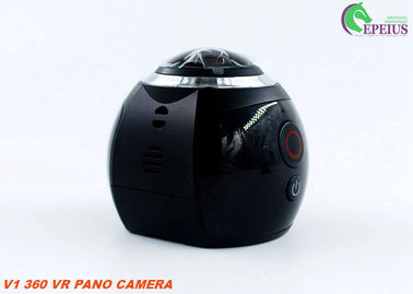 China 2.7K VR 360 Degree Action Camera , V1 Vr Video Camera Lens 30 Meter Waterproof supplier