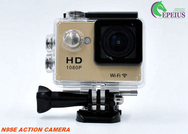 China Multi Languages 1080p Hd Wifi Action Camera With Waterproof Case / Lithium Battery supplier