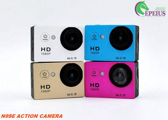 China Mini 2'' Sport Wifi Action Camera 12mp 1080p 155 Degree 6G Lens For Cyclic Recording supplier