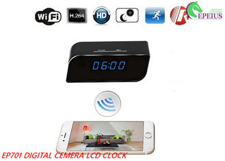 China 160D Width Angle Wifi Camera Clock 12 Hours EP701 Multi Function For Recording supplier