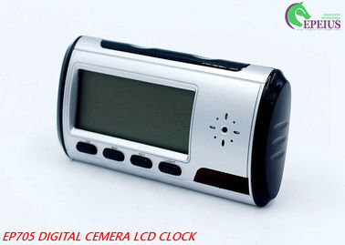 China Long Time Recording Alarm Clock Hidden Camera Wifi , 1080P Spy Clock Ip Camera  supplier