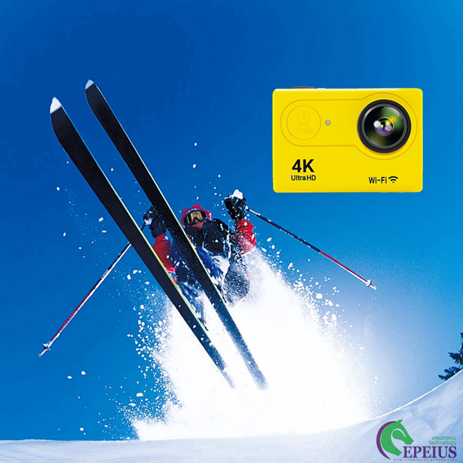 12MP Sports 4k Ultra Hd Wifi Action Camera H9 Waterproof Sport Cam with Remote Control