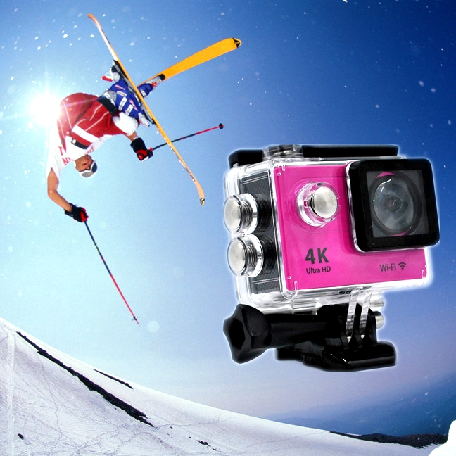 Mini 30M H9 LT 4k Sports Action Camera With Seven Colors Full Accessories