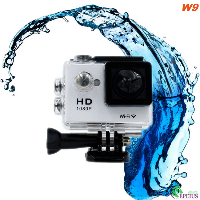 Wireless Full HD 1080P 30fps Waterproof Wifi Camera For Skiing / Hiking / Surfing