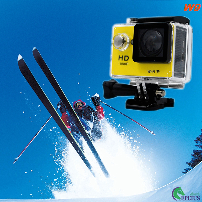 4K WiFi Sport DV 1080P HD Action Camera With Rechargeable 900mAh Liothlum Battery