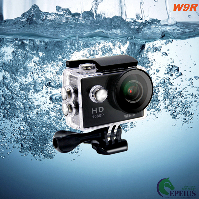 Small 2.4G Remote W9R Waterproof Wifi Action Camera HD 1080P For Outdoor Sports