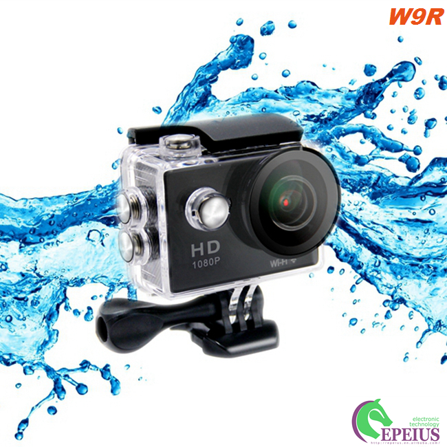 Portable 10FPS 4K Sports Action Camera W9R Underwater With Multi Languages