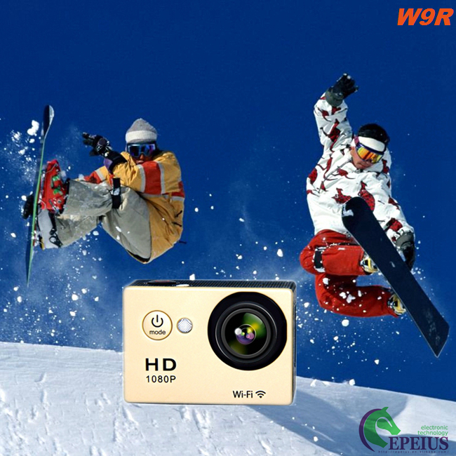 Diving 170° Lens Wide Angle Action Camera , Ultra HD WiFi Motorcycle Helmet Camera