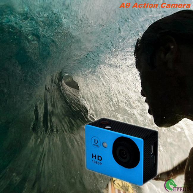 2.0 Inch 1080P Waterproof Action Video Camera , A9 Waterproof 30M Wide Angle Action Camera