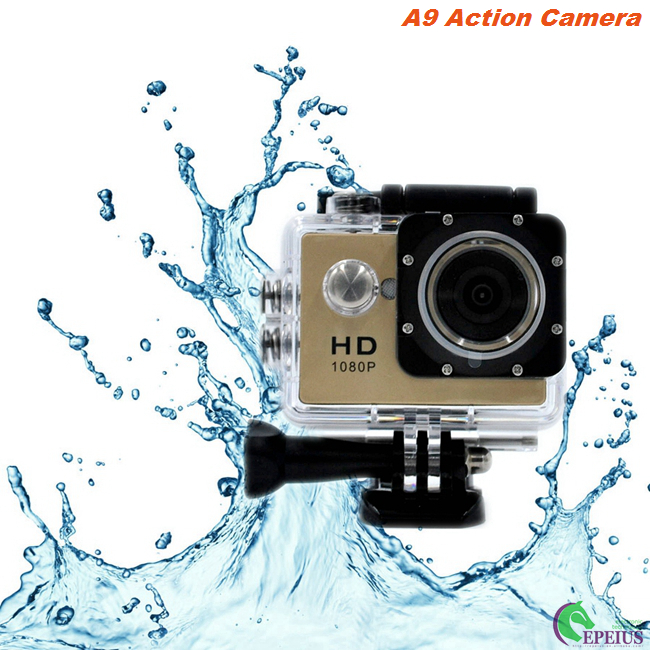 A9 Waterproof Motorcycle Cycling Video Camera Sj4000 Mini Pro TF Card Max 32G