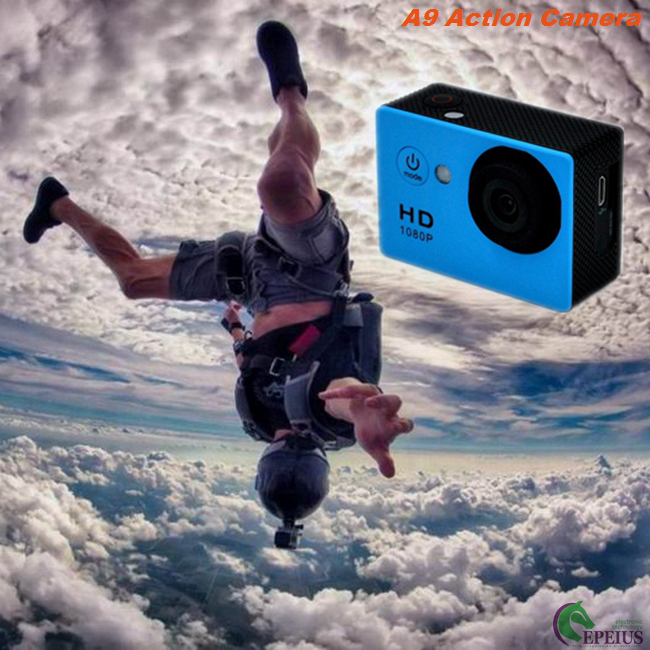 Professional 30 Meters Waterproof Action Camera A9 Full 1080P HD No Wifi Mini Size