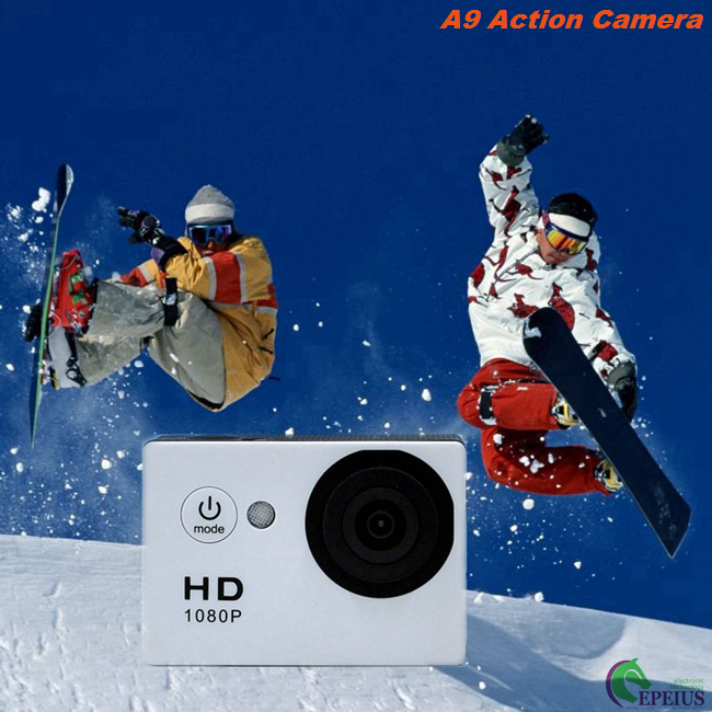 900mAh Battery 1080P HD Action Camera Underwater 30M H.264 HDMI A9 140° Wide Angle Lens