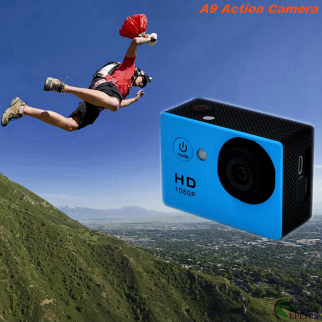 Seven Color A9 Waterproof Action Camera Sunplus SPCA1521 With Full Accessories