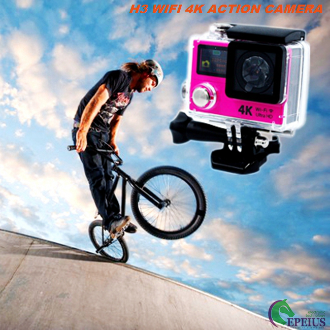 Dual Screen Ultra 4K Wifi Action Camera H3 2.4G Remote Wireless Helmet Camcorder