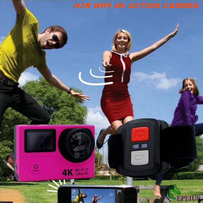 Ultra Hd 4k Action Camera With H3R Dual Screen ,170 Degree Lens Remote Control Camera