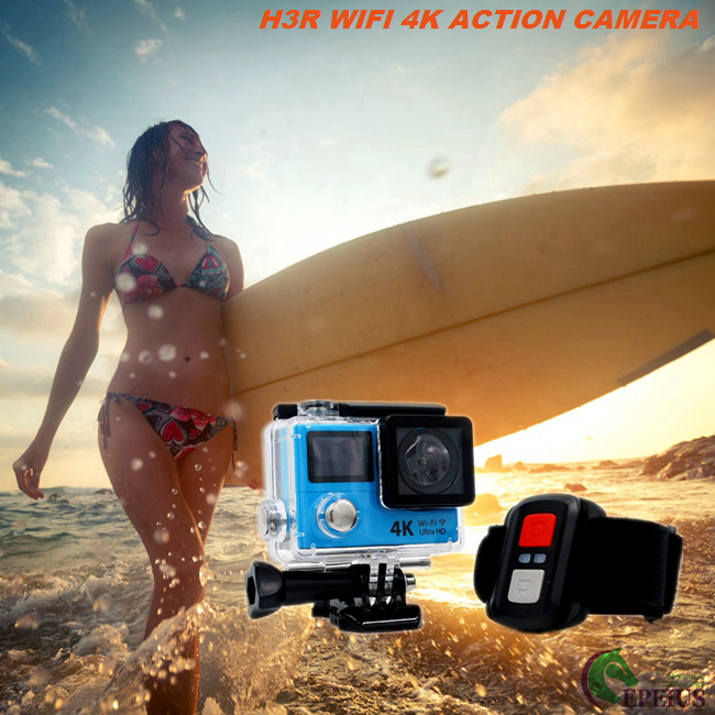 Waterproof Sports Action Video Camera H3R , Dual Screen 4k Ultra Hd Action Camera