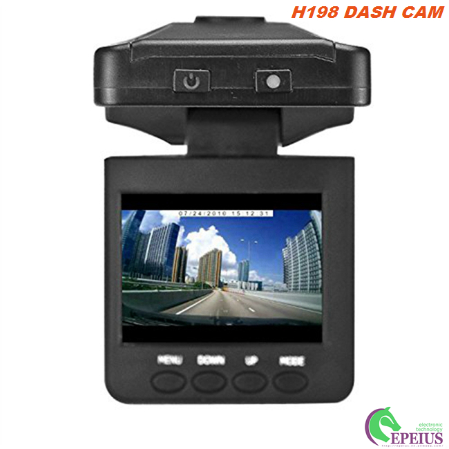 2.4 Inch Car Dashboard Camera Night Vision H198 , Full HD 720P Car Black Box