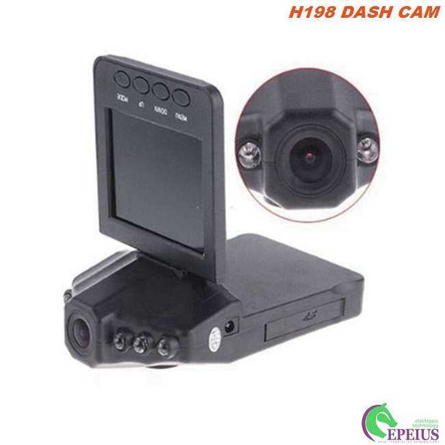"Mini H198 720P Dual Dash Cam With Parking Mode / 6 Night Led / 2.4"" TFT Display"