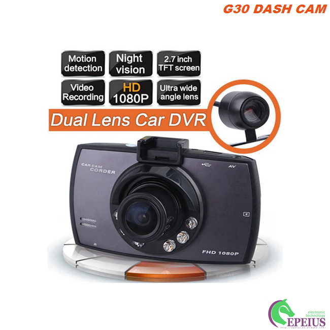 Motion Detection Motion Activated Dash Cam G30 1.3MP With 120 Degree Lens