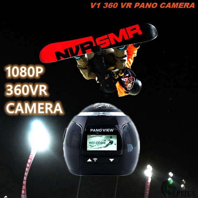 1080P HD 360 Degree V1 Wifi Action Camera High Definition For Outdoor Helmet