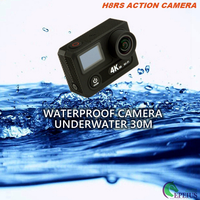 "2"" LCD Dual Screen Cycling Action Camera , Waterproof Go Extreme Action Cam 4K"