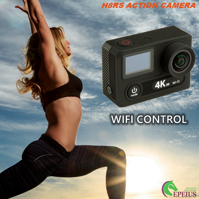 30FPS 4K Ultra HD Action Sports Camera 2.4G Remote With VR 180 Degree Video Recording