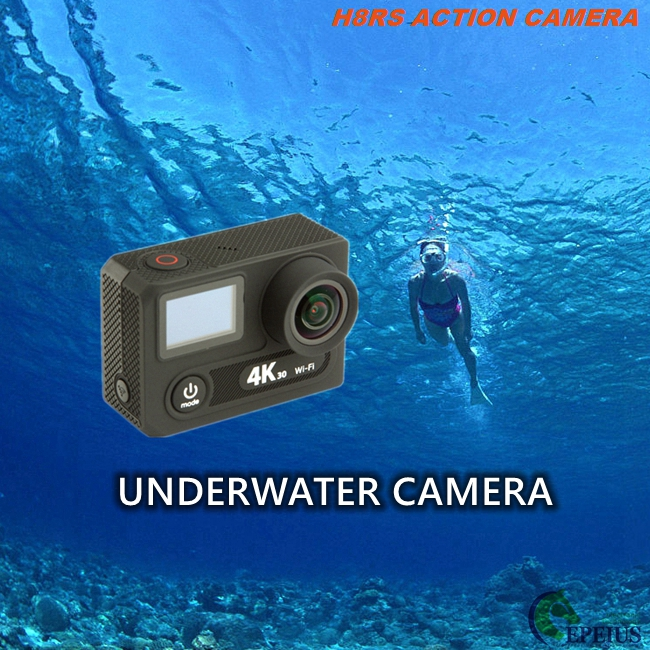 VR 360 Dual Screen Action Camera H8RS 2.4G Remote with 170 Lens Waterproof