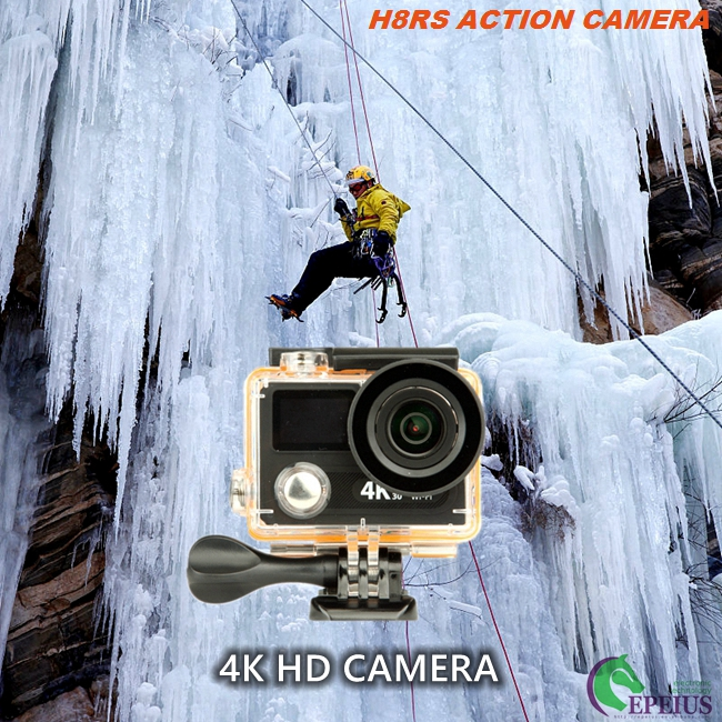HD 1080P Dual Screen 4k Ultra Hd Sports Camera H8RS XDV With 170° Diagonal Viewing Angle