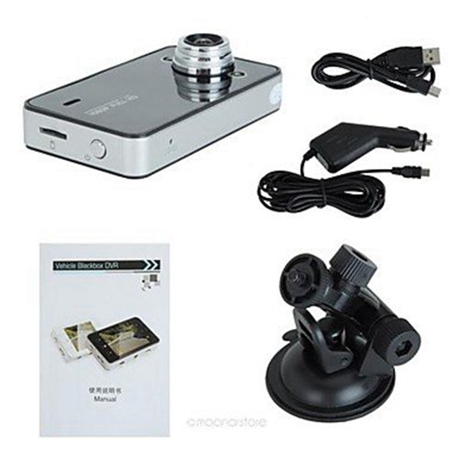 Gravity Sensor Dual Lens Car Dvr Camera Ultra HD With 2.4 Inch TFT Display