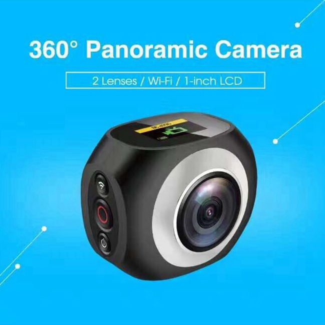 720 Degree 4k Sports Action Camera Pano360 Pro 2.4G With Remote Controller Dual Lens