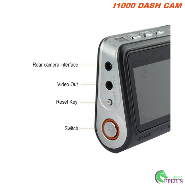 Instantaneous Data Protection 	Dual Lens Dash Cam 120 Degree With Gravity Sensor