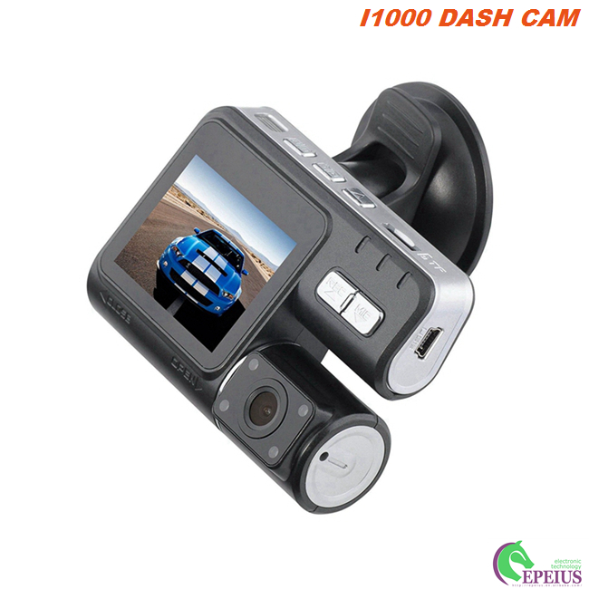 Night Vision Car Camera With 170 Degree Width Angle , Dual Lens Car Recording Camera