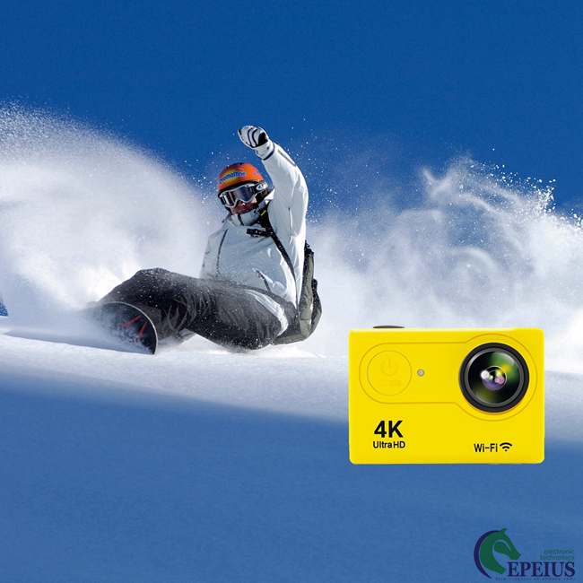 4K Ultra HD Waterproof Action Camera H9 1080P With 170 Wide Angel / Wifi Control