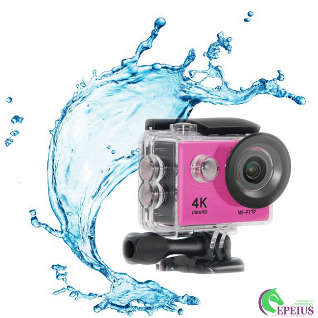 H9 Ultra Hd 4k Action Camera , 4k Underwater Video Camera With Wide Angle Lens