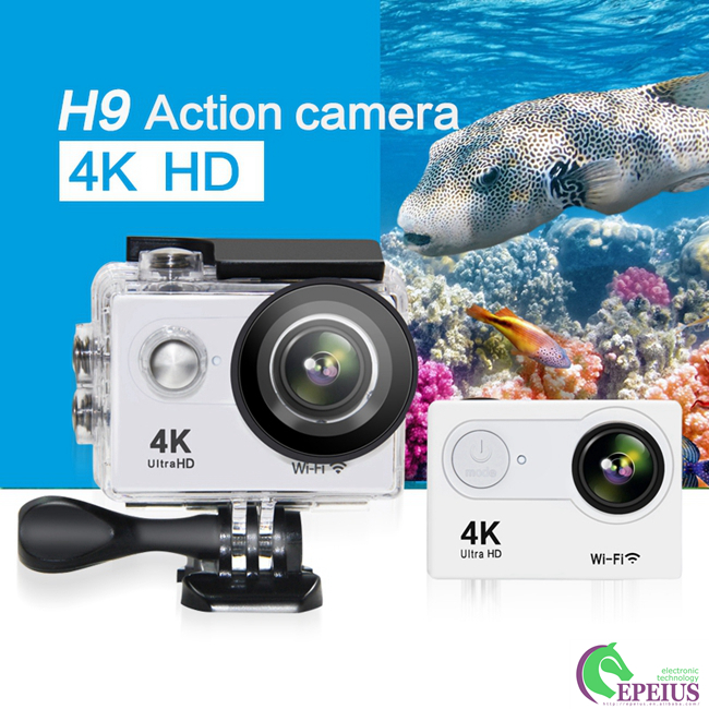 "170D Lens Waterproof Action Camera H9 WiFi 4K 2""LCD High Speed Sport Camcorder"