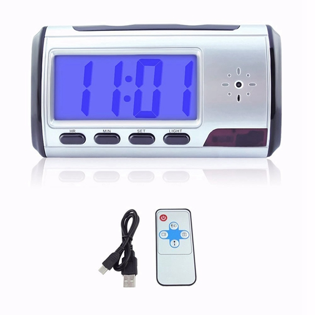 Voice Recording Wifi Camera Clock With Remote Controller / 1280 * 960 Resolution