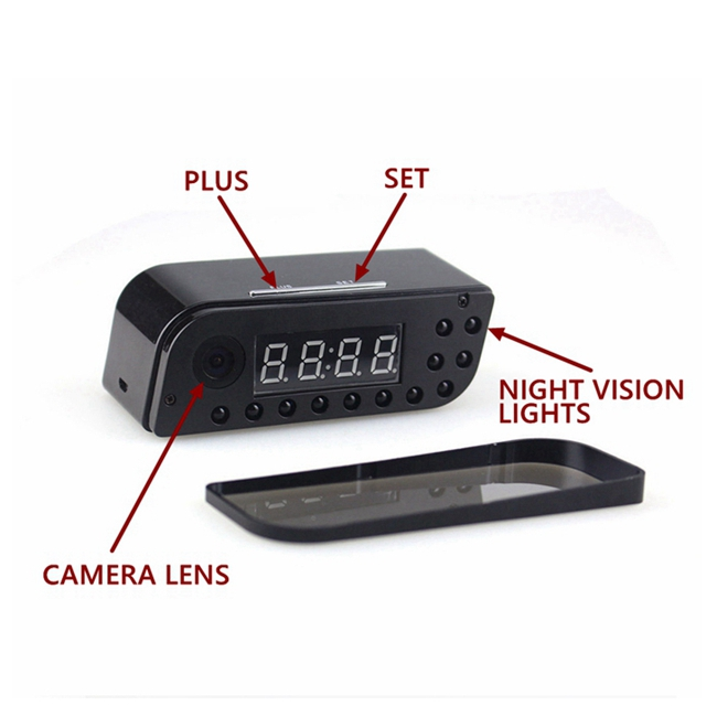 160D Width Angle Wifi Camera Clock 12 Hours EP701 Multi Function For Recording