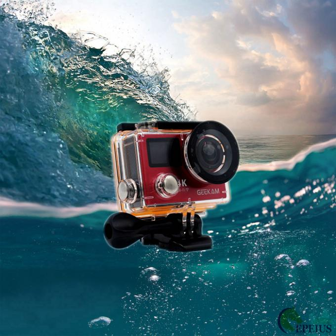 2.4G Remote Control Action Camera 1050mAh Underwater 30 Meters With Dual Screen