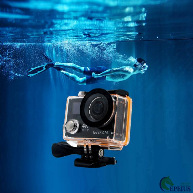 Underwater 30M HDMI 4k Sports Action Camera K8 Wifi 1080P 120fps With Dual Display