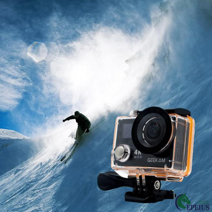 Waterproof 30 M Dual Screen Action Camera 17 0Degree 360 VR 4K With Continuous Shooting